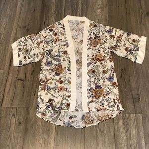 New Summer & Rose flower print kimono wrap